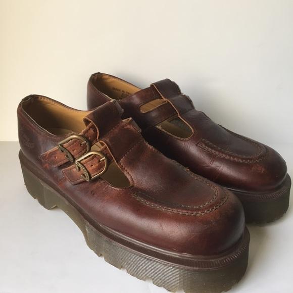 e8890a485a30c Dr. Marten Made in England Mary Jane Platform Shoe